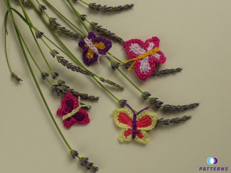 Häkelanleitung Schmetterlinge In 2 Größen Mypatternsde