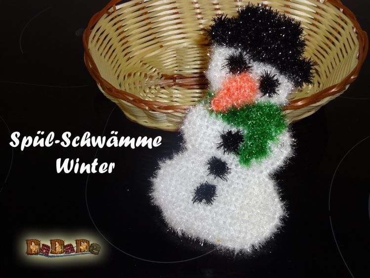 Schwamm Schneemann Für Bad Und Küche Gehäkelt Von Dadade