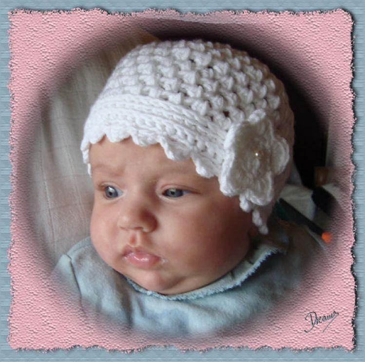 Häkelanleitung für Babymütze Leonie Gr. 36 - 40 - myPatterns.de