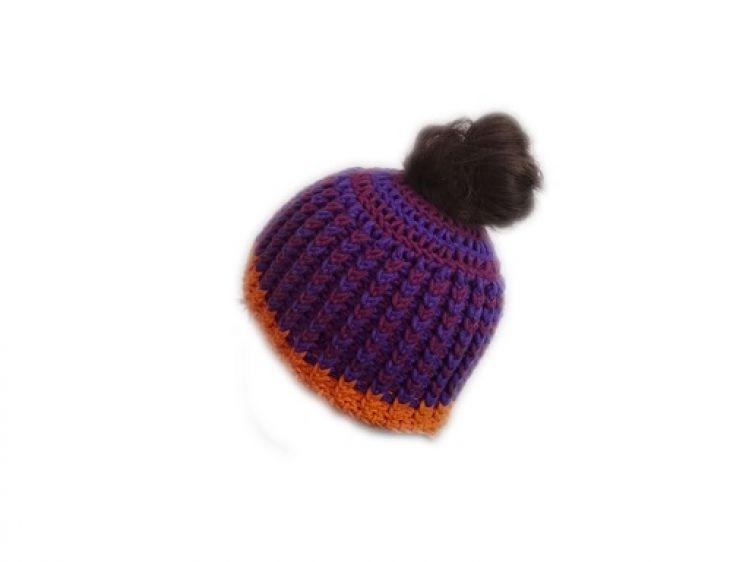 Insanis Messy Bun Hat Gehäkelt Mypatternsde
