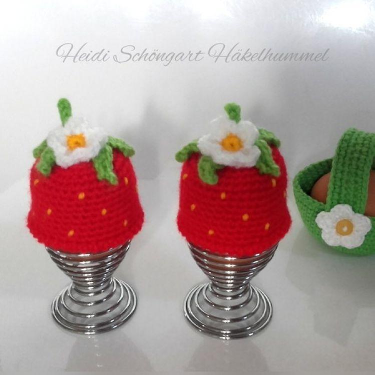Erdbeer Eierwärmer Ostern Anleitung Mypatternsde