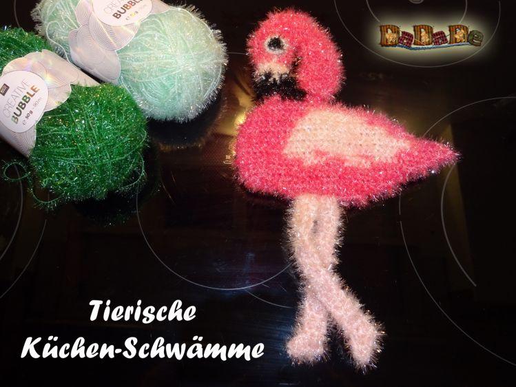 Schwamm Flamingo Für Bad Und Küche Gehäkelt Von Dadade Mypatternsde