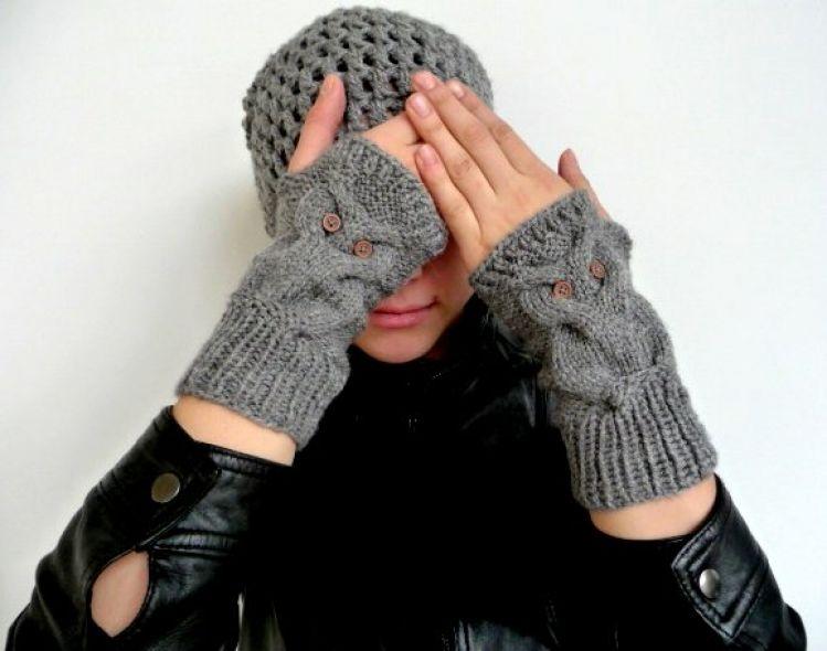 Strickanleitung Fingerlose Handschuhe Eule No101 Mypatternsde