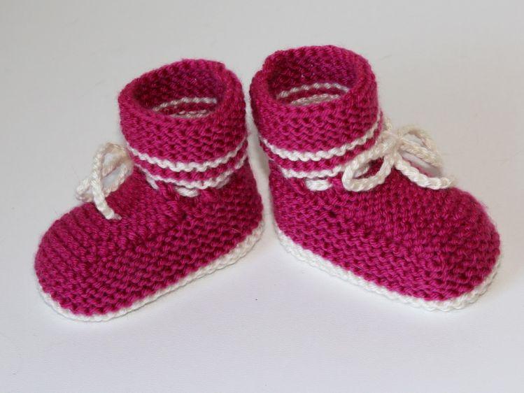Strickanleitung Babyschuhe Booties Ideal Für Anfänger Mypatternsde