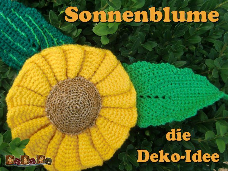 Sonnenblume, Schlüsselanhänger und Deko, gehäkelt von Dadade ...
