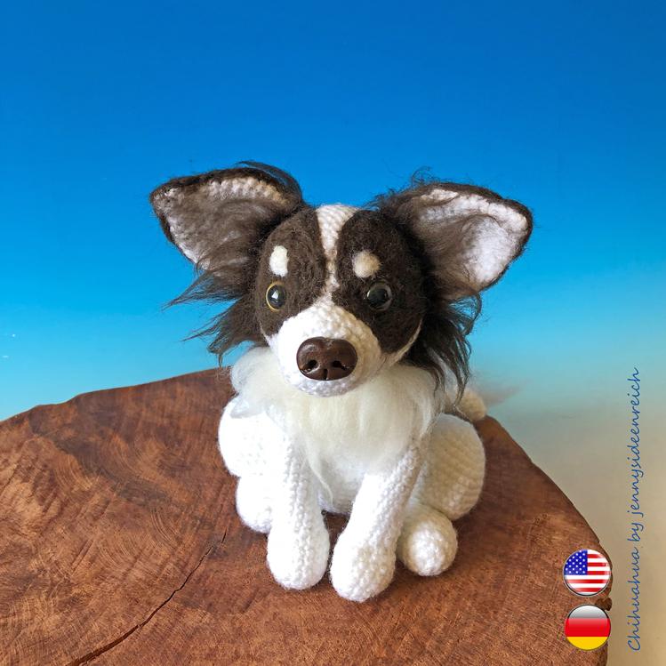 Jack Russell Terrier Amigurumi Häkelanleitung (DEUTSCH), Hund ... | 749x749