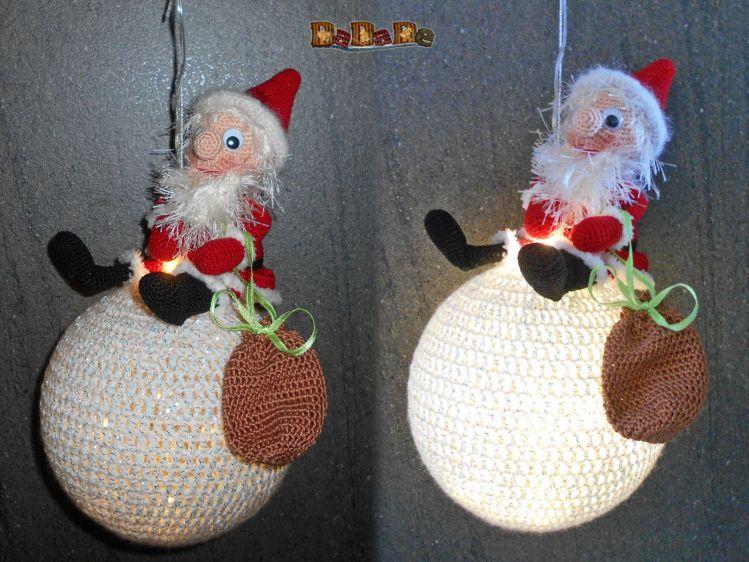 Nikolaus Oder Weihnachtsmann Die Beleuchtete Dekoration Mypatternsde