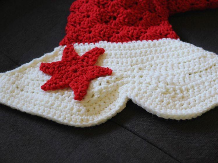 Häkelanleitung für eine weihnachtliche Meerjungfrau-Decke ...