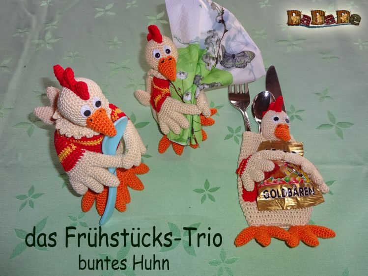 Serviettenhalter Eierwärmer Und Bestecktasche Huhn Dadade