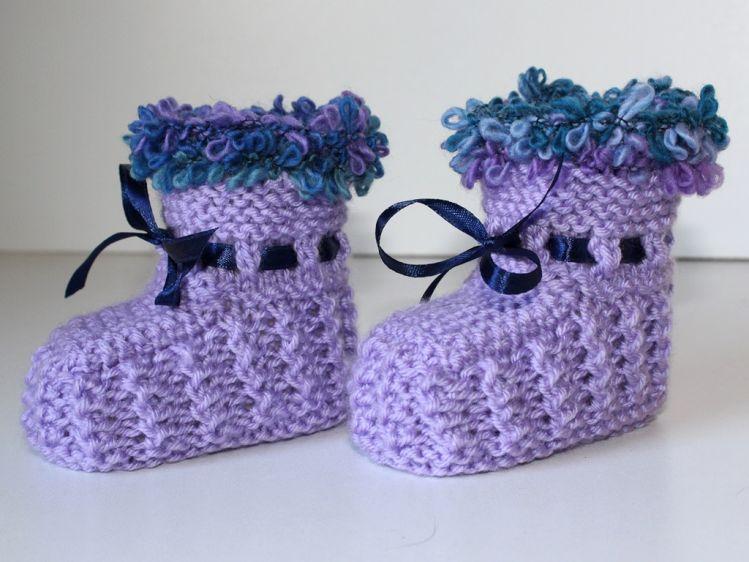 Strickanleitung Babyschuhe Baby Booties Ideal Für Anfänger