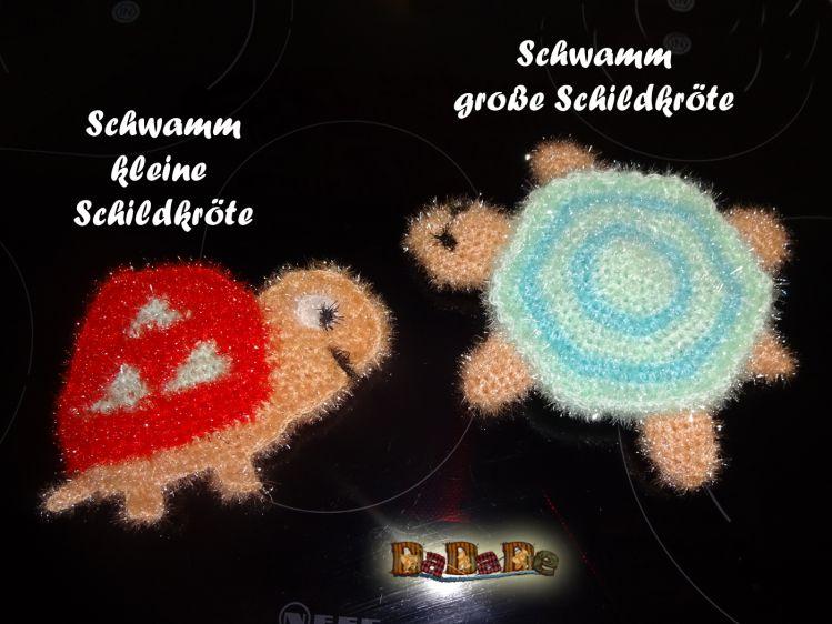 Spül Oder Duschschwamm 2x Schildkröte Gehäkelt Von Dadade