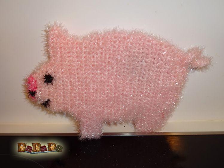 Spülschwamm Oder Duschschwamm Schwein Gehäkelt Von Dadade