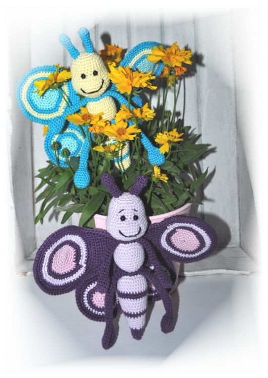 Amigurumi Schmetterling Betty Häkelanleitung Butterfly
