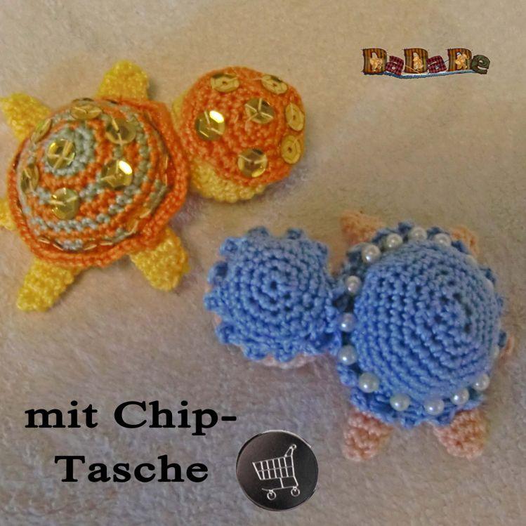 Schlüsselanhänger Schildkröte Mit Chip Tasche Von Dadade