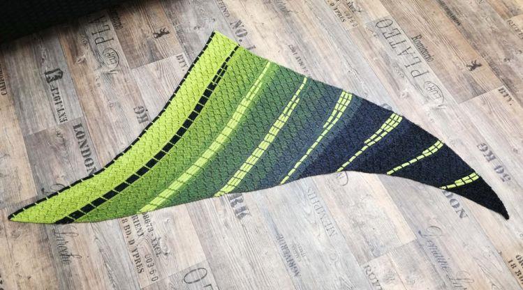 Kesse Kiwi Strickanleitung Für Dreieckstuch Aus Bobbel Mypatternsde