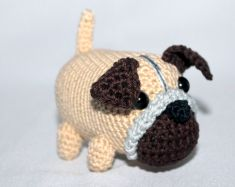 Cachorrinho pug amigurumi | Ateliê da Vovó | 187x235