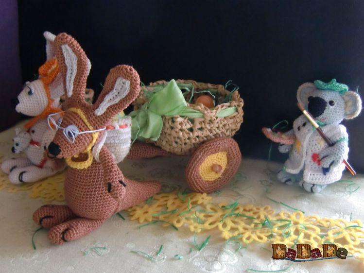 Känguru und Koala feiern Ostern in Australien - Dadade - myPatterns.de