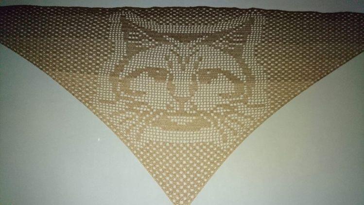 Motivtuch Katze Dreieckstuch Häkelanleitung Mypatternsde