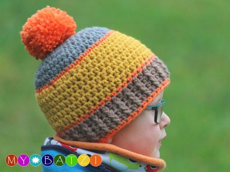 Mütze Häkeln Häkelanleitung Für Eine Jungenmütze Mypatternsde