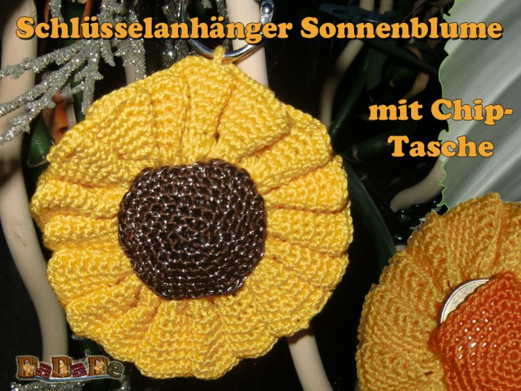 Sonnenblume Schlüsselanhänger Und Deko Gehäkelt Von Dadade