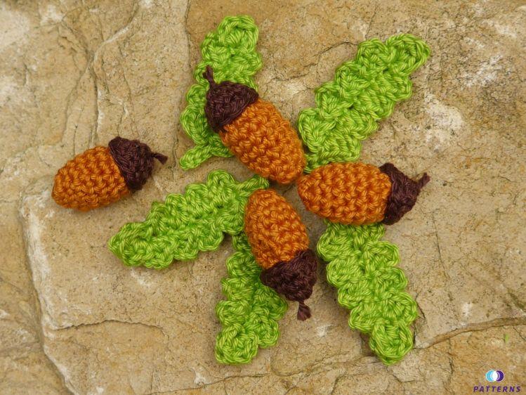 Häkelanleitung Eicheln Mit Blätter Mypatternsde