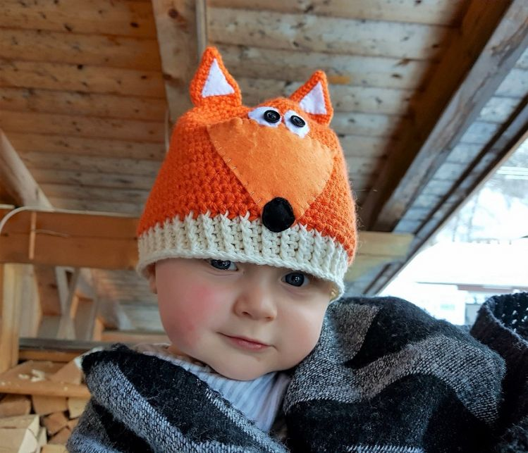 Baby/ Kinder Fuchsmütze Häkelanleitung - myPatterns.de