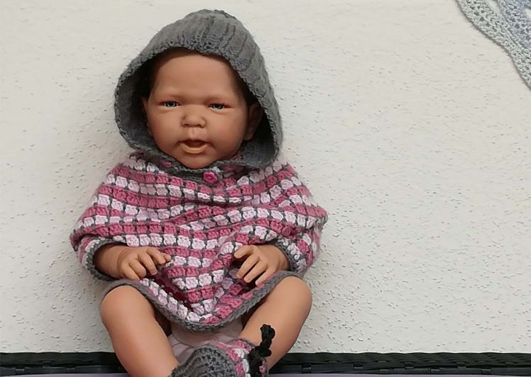 Pünktchen Niedlicher Baby Poncho Schnell Einfach Gehäkelt
