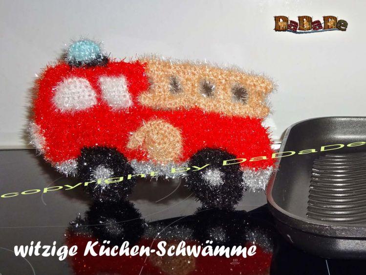 Spülschwamm Oder Badeschwamm Feuerwehrauto Von Dadade Mypatternsde