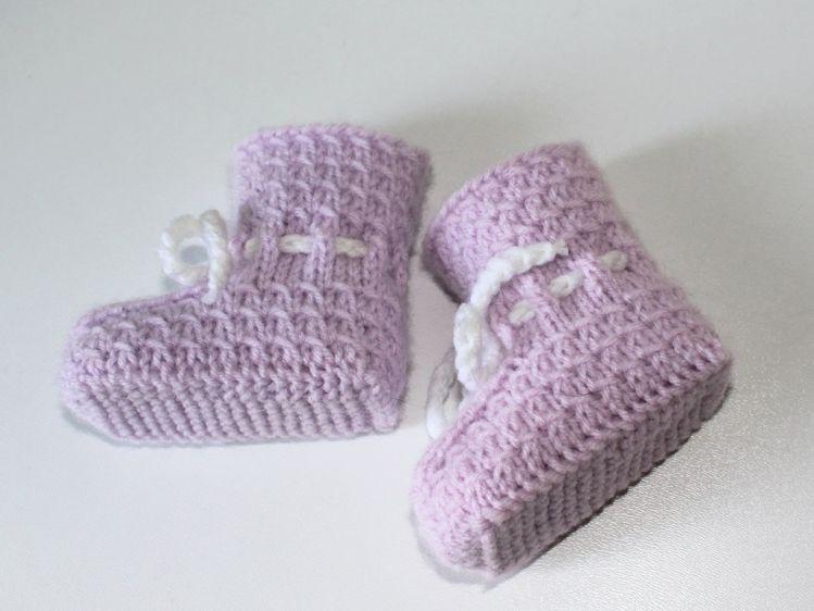 Strickanleitung Baby-Booties, Babyschuhe, Flechtmuster - myPatterns.de