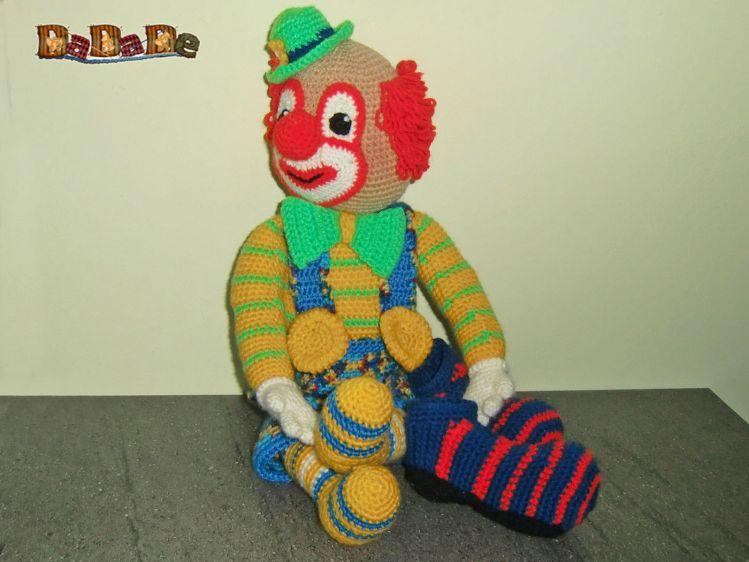 Der Clown Bimbino Die Kuschel Puppe Für Fasching Gehäkelt