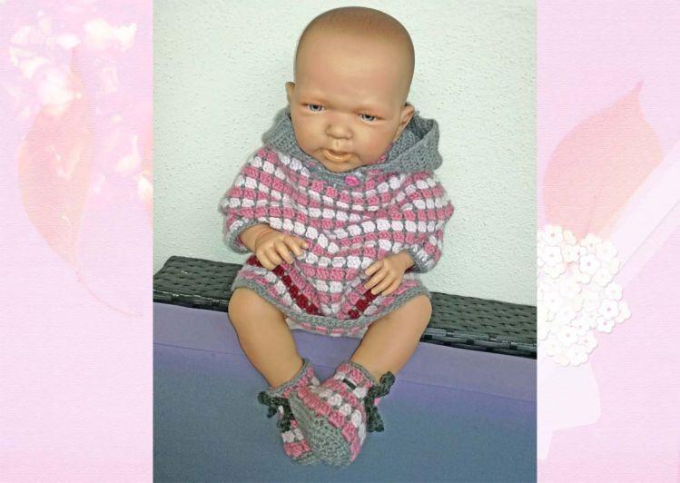 Pünktchen niedlicher Baby- Poncho schnell + einfach gehäkelt ...