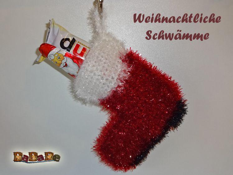Schwamm Nikolaus Stiefel Für Bad Küche Gehäkelt Von Dadade