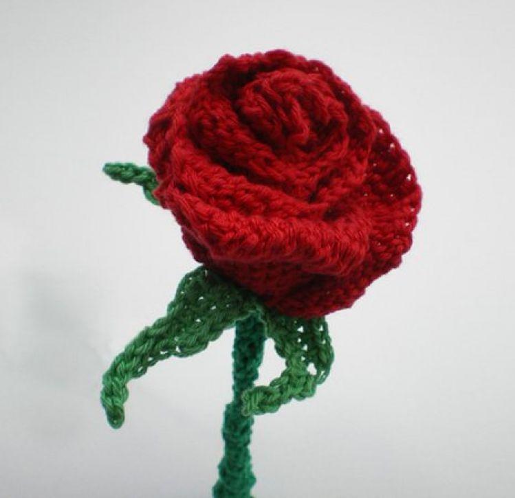 Tunesisches Häkeln: Rose, Rosen, vielseitig einsetzbar - myPatterns.de