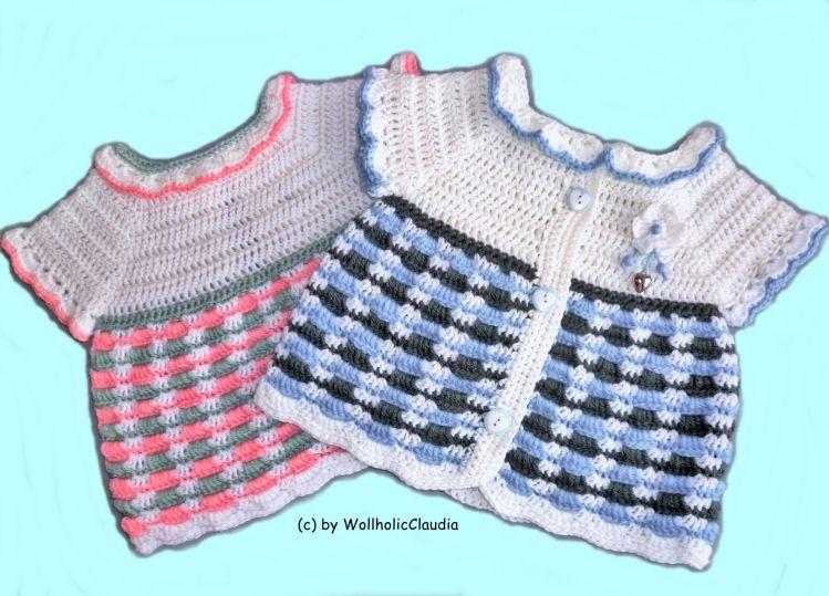 Häkelanleitung Babyjacke Kleidchen Weste Mypatternsde