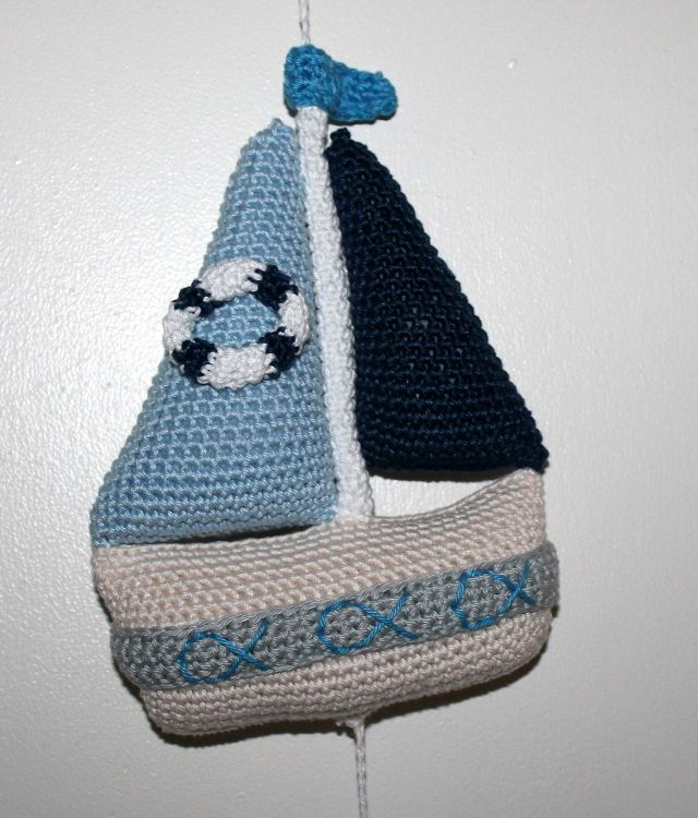 Maritime Deko Fisch Boot Und Seeigel Als Mobile Mypatternsde
