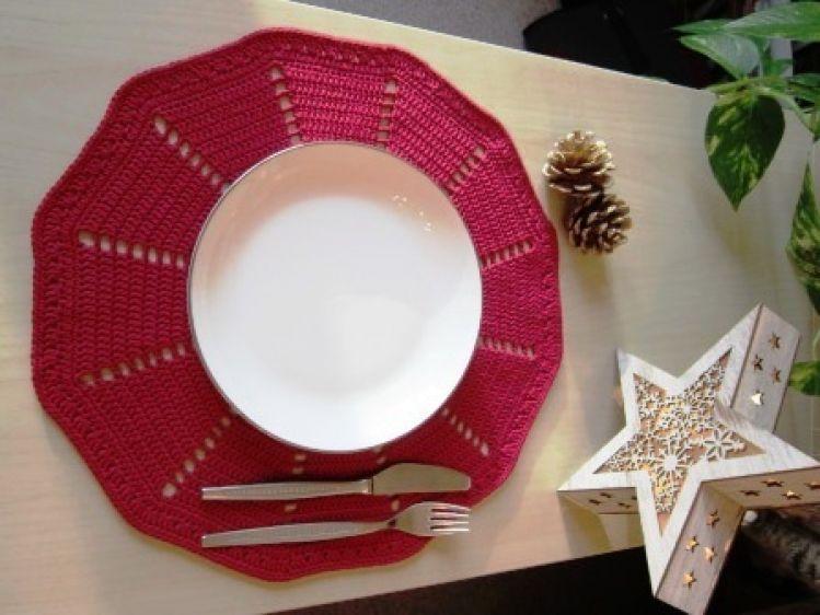 Häkeln Rundes Deckchen Platzdeckchen Christmas Mypatternsde