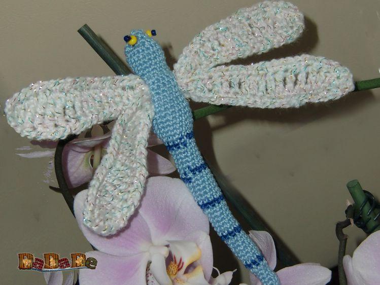blumen orchideen stecker libelle geh kelt von dadade. Black Bedroom Furniture Sets. Home Design Ideas