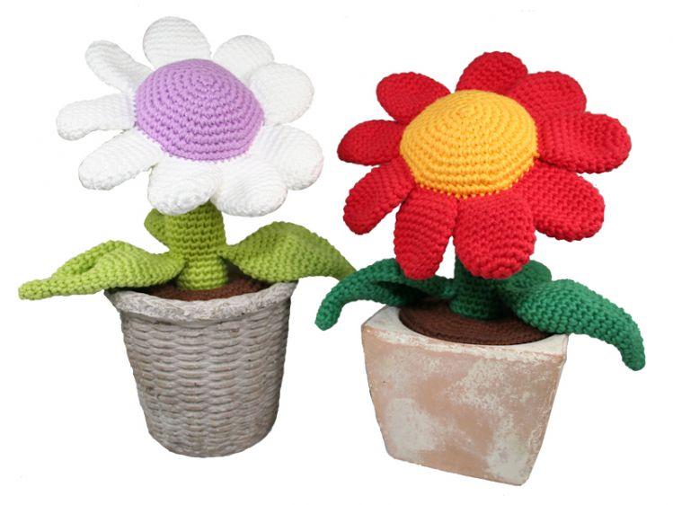 Blume Topfpflanze Häkelanleitung Mypatternsde