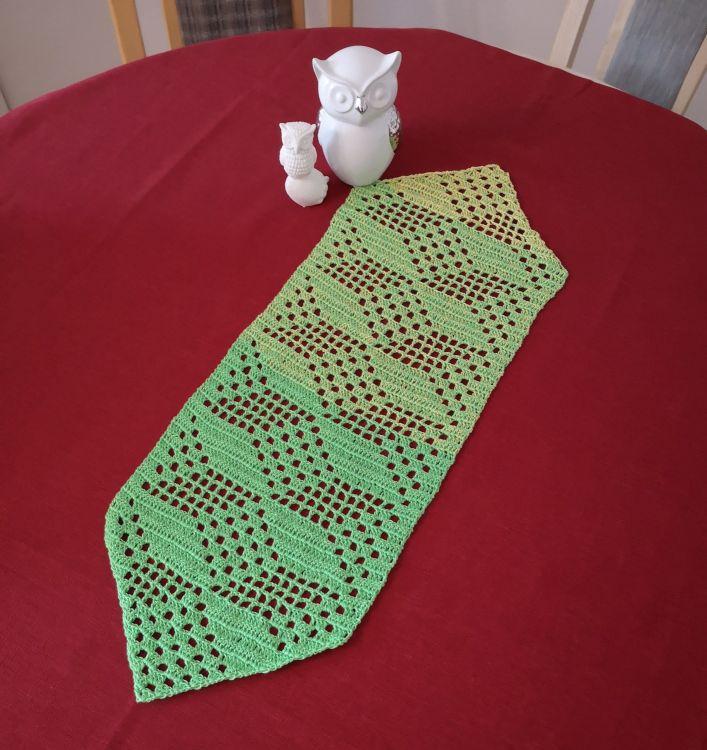 Tischdecke Läufer 3d Muster Würfel 73x25 Cm Häkelanleitu