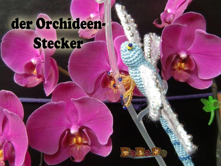 Blumen Orchideen Stecker Libelle Gehäkelt Von Dadade